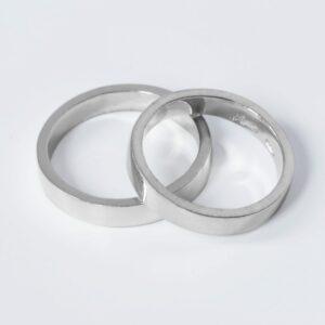 Alianzas de boda planas REF AB10-107