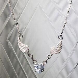 Collar Alas de Angel de Plata