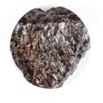 raw hematite stone on white p63c9x5